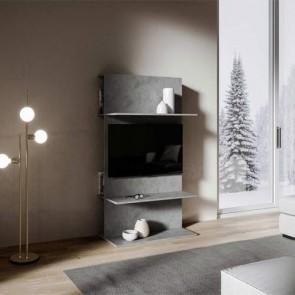 Mobile porta TV Loki A dal design moderno. Parete attrezzata moderna antracite spatolato
