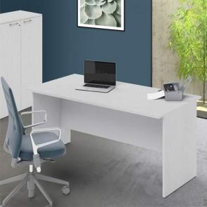 Scrivania ufficio bianca larga 160 cm. Scrivanie in legno porta pc