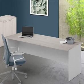 Scrivania ufficio olmo larga 200 cm. Scrivanie in legno porta pc per arredamento camerette, dimensioni 74x200x80 cm.