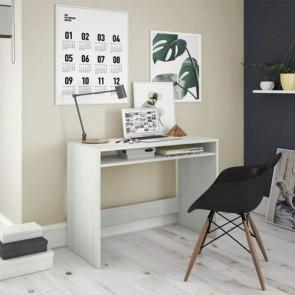 Scrivania ufficio reception bianca dimensioni 79x43x78h cm, scrivanie in legno melaminico con ripiano porta computer.