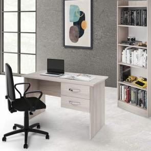 Scrivania ufficio Olmo con due cassetti. Scrivanie porta pc per ragazzi in legno, ideale per arredare camerette e studio.