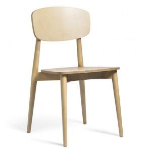 Sedia da cucina in massello di frassino con finitura in rovere, set 2 sedie da soggiorno da abbinare a un da tavolo da pranzo o da lavoro.