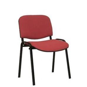 Sedia interlocutoria ufficio in tessuto bordeaux, sedie per scrivania, sala riunioni o d'attesa.