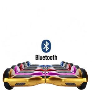 Monopattino elettrico bilanciato con bluetooth e sistema giroscopico. Lo smart balance wheel è semplicissimo da guidare, overboard scooter con fari led