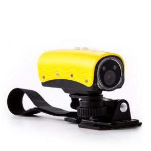Macchina fotografica sportiva 15 megapixel full HD professionale. Fotocamera con grandangolo con slot per memory card micro-SD.