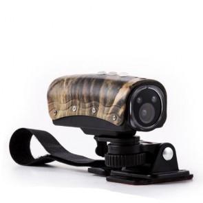Fotocamera digitale sportiva camouflage 15 megapixel full HD 30 fps. Action camera con grandangolo con slot per memory card micro-SD.