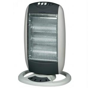 Stufa alogena 1200w con oscillante, stufe elettrice con tre potenze ideale per riscaldare l'ambiente di casa.