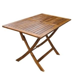 Tavolo in legno pieghevole da giardino, tavoli richiudibili pieghevoli da esterno per terrazzo