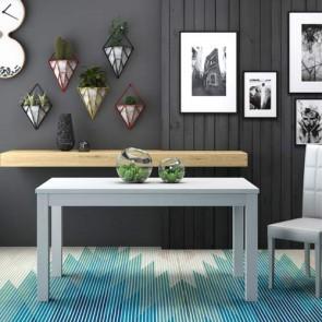 Tavolo da pranzo allungabile di 80 cm, tavoli da cucina allungabili con gambe in faggio. Dimensioni 160x90 cm