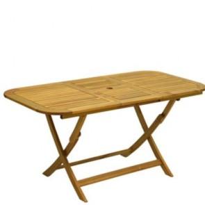 Tavolo in legno pieghevole da giardino rettangolare, tavoli richiudibili pieghevoli da esterno per terrazzo