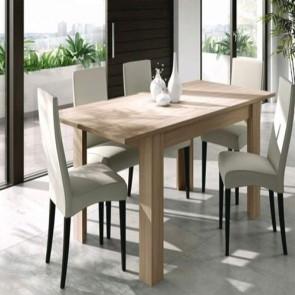 Tavolo da pranzo in rovere allungabile di 50 cm. Tavoli da cucina allungabili 78x190x90 cm, ideale anche in soggiorno.