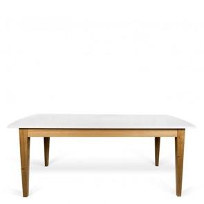 Tavolo allungabile bianco e legno temahome per cucina e sala da pranzo.