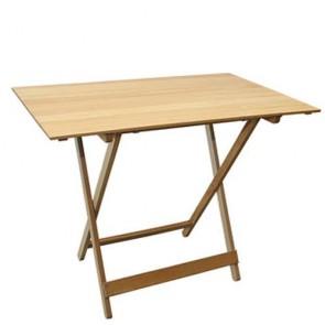 Tavolo in legno massello chiaro pieghevole da giardino, tavoli richiudibili pieghevoli da esterno per terrazzo.